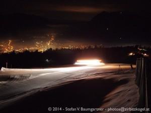 Garmisch-Partenkirchen bei Nacht