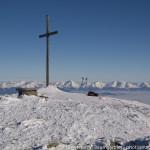 """Ein seltenes Ereignis: """"Einsam und allein am Gipfel des Zirbitzkogels bei nahezu windstillen und milden -8°C""""."""