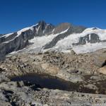 Blick zum Großglockner (3798 m) beim Abstieg von der Oberwalderhütte