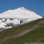 Unterwegs auf dem Gamsgrubenweg mit Blick auf den Johannisberg (3453 m)
