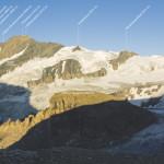Panorama der Glocknergruppe, aufgenommen In der Nähe der Oberwalderhütte (2973 m)