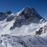 Am Gipfel der Hinteren Karlesspitze (2641 m) mit Blick zum Acherkogel
