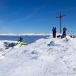 Gipfel des Zirbitzkogels (2396 m) bei bestem Wetter