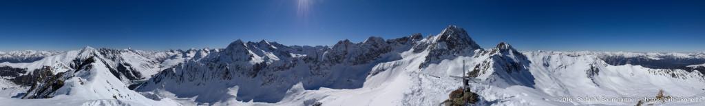 Panorama von der Hinteren Karlesspitze (2641 m)