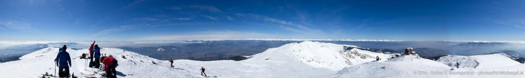Panorama vom Gipfel des Zirbitzkogels