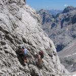 Unterwegs am Höllental-Klettersteig