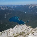 Blick zum 1300 m tiefer liegenden Eibsee