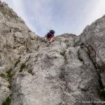 Konzentriertes und seilfreies Klettern im 1. und 2. Schwierigkeitsgrad (UIAA) ist erforderlich