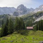 Kleine Hütte in der Nähe des Seebensees