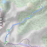 """Zirbitzkogel-Normalweg, dargestellt mit der App Maps 3D. Als Kartentyp wurde in der App die """"Wanderkarte"""" ausgewählt. Mit der App können Karte und Tour auch dreidimensional dargestellt werden."""