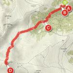 """Zirbitzkogel-Normalweg, dargestellt mit der App alpenverein. Als Kartentyp wurde in der App """"Outdooractive Sommer"""" ausgewählt."""