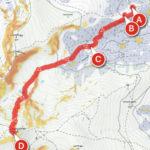 """Zirbitzkogel-Normalweg, dargestellt mit der App alpenverein. Als Kartentyp wurde in der App """"Outdooractive Winter"""" mit aktiviertem Hangneigungslayer ausgewählt."""