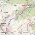 """Zirbitzkogel-Normalweg, dargestellt mit der App ape@map. Als Kartentyp wurde in der App die """"Kompass Wanderkarte"""" ausgewählt."""