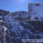 Bereits sehr viel Schnee im oberen Teil des Stopselziehersteigs