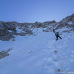 Immer längere Schnee-Passagen mit teils vereisten Tritten