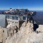 Seilbahnstation in der Nähe des Gipfels der Zugspitze