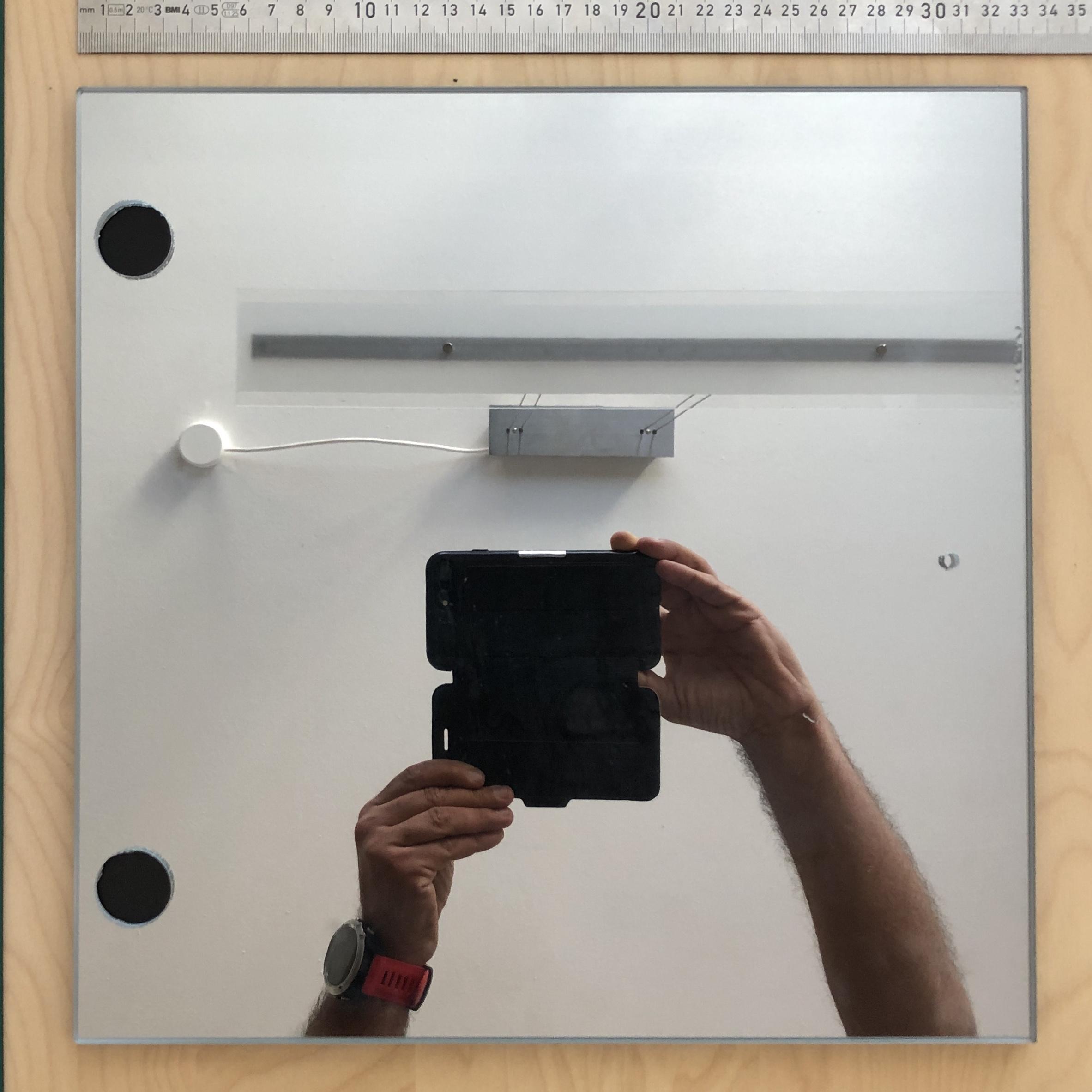KALLAX-Vitrinentür mit Spiegelfolie