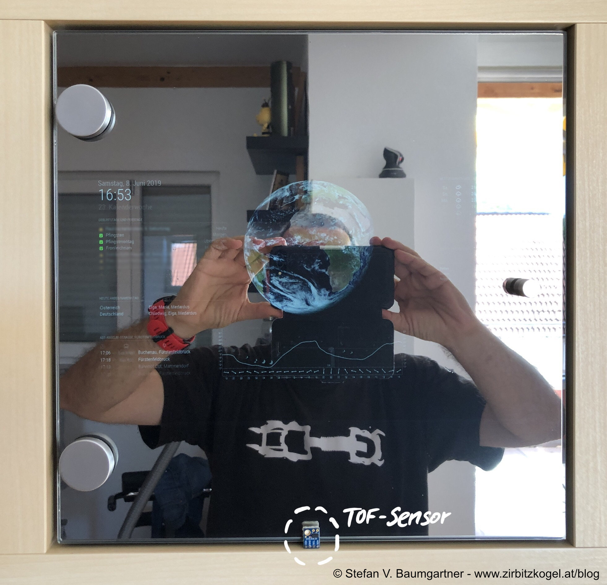 Magic Mirror mit Time-of-Flight-Sensor