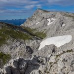 Blick zurück zum Gipfel des Hohen Grimming