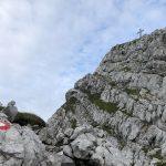 Die letzten Meter hinauf zum Gipfel des Hohen Grimming