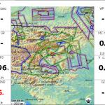 ALPS_Altair-Karte mit österreichischem Luftraum, dargestellt mit XCSoar.