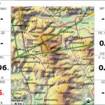 ALPS_Altair-Karte in XCSoar bei größerer Zoomstufe. Die Gipfel der Datei mountain_peaks_ALPS_extended.cup sind bereits erkennbar.