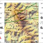 Detaillierte Darstellung der Gipfel der Datei mountain_peaks_ALPS_extended.cup und der Karte ALPS_Altair in XCSoar.