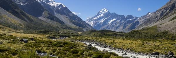 Hooker Valley mit Mount Cook